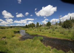 The Sycan River runs into the Sycan Marsh in Lake County, Oregon.